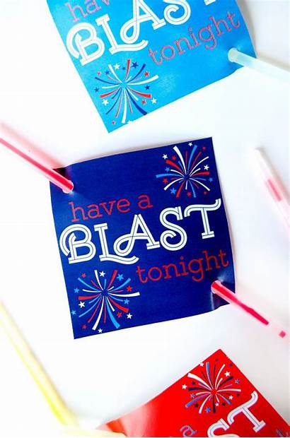 July Fourth Party Printable 4th Favors Patriotic