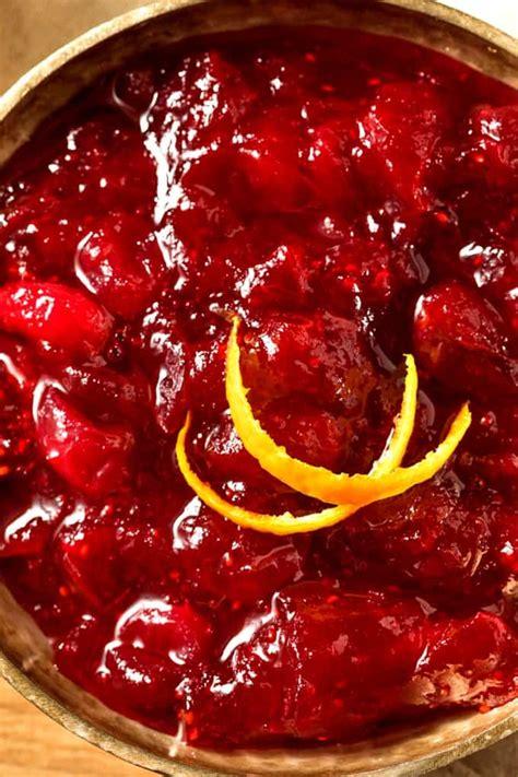 slow cooker apple raspberry cranberry sauce simple