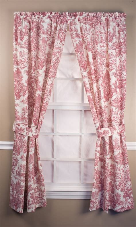 toile drapes park toile tailored curtain panel pairs with ties