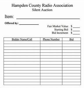 Silent Auction Bid Sheets Free Silent Auction Bid Sheet Template 10 Free Samples Examples