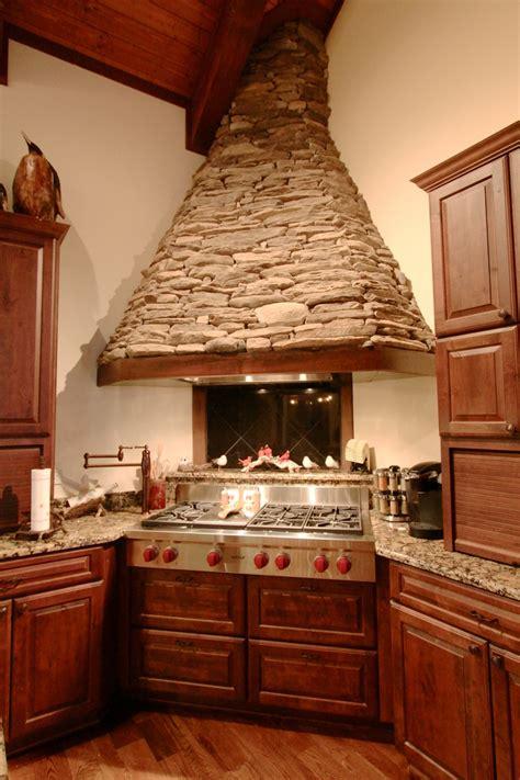 stacked stone range hood vpc builders kitchen design