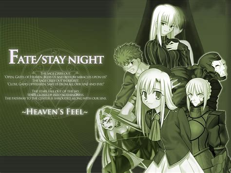 anime dark saber heavens feel route anime fate stay