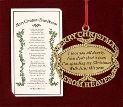 amazon com merry christmas from heaven gold tree ornament