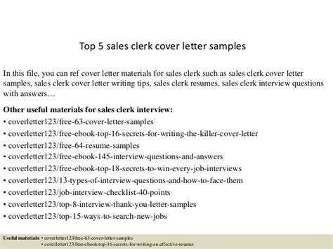 file clerk cover letter sles top 5 sales clerk cover letter sles