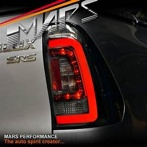 Smoked Black Tail Lights With 3d Led Stripe Bar For Toyota