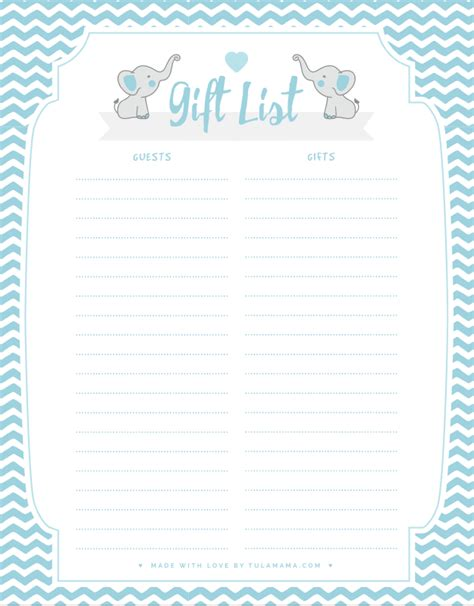 Simply right click and save that to your computer. Free Printable Gift Tracker For Any Occasion | Baby shower ...
