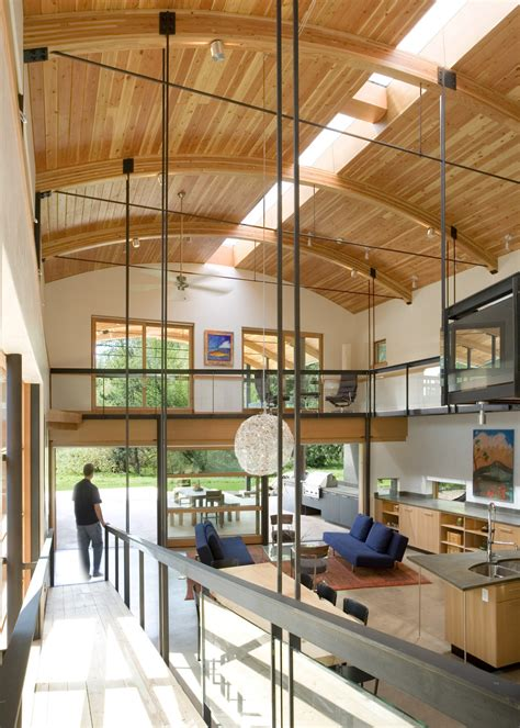 modern industrial suburban house seattle curved