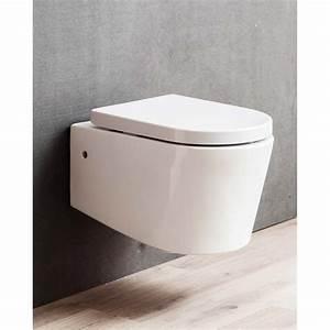 Wc Suspendu Sans Bride : wc suspendu banio design honk rimless sans bride avec ~ Dailycaller-alerts.com Idées de Décoration