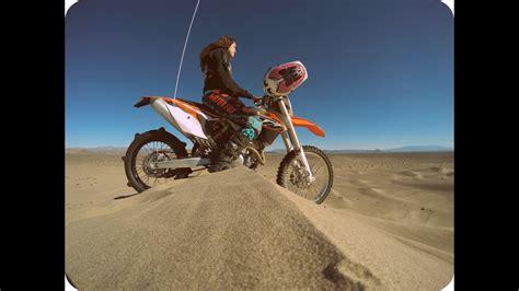 Girl Dirt Bike Rider At Big Dune Amargosa