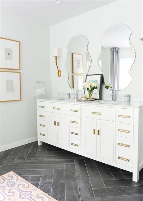 tracey ayton photography bathrooms ruhlmann sconce gray herringbone floor gray herringbone