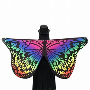 Colorful Fabric Butterfly Wings - BelleChic