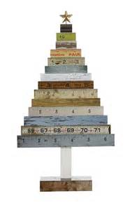 wood ruler tree vintage style ruler tree