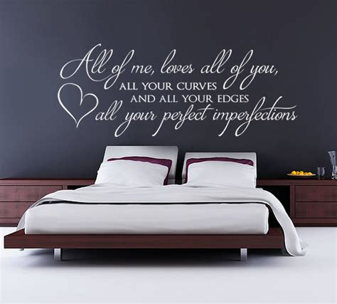 Bedroom Wall Stickers Lyrics by All Of Me All Of You Wall Sticker Home Decor Bedroom