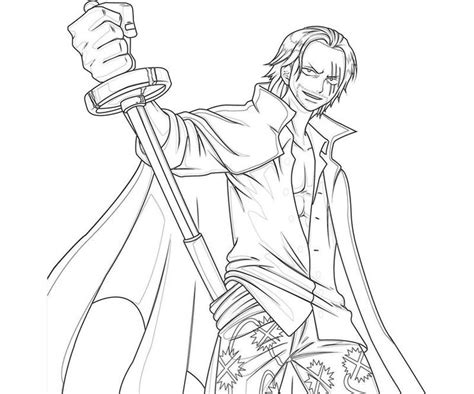piece shanks sword coloring pages fashion