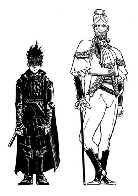 Graphic Novel Character Sketches - Brent Weeks