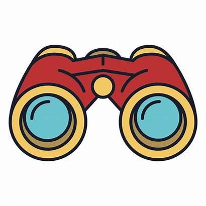 Binoculars Binoculares Fernglas Icon Colorido Icono Trazo