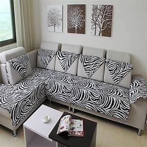 Zebra print sofa covers zebra print sofa covers for Zebra sectional sofa