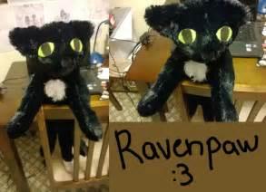 warrior cats plush warrior cats ravenpaw plushie by otakucroco on deviantart