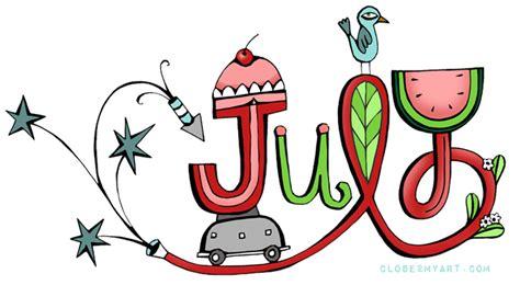 Image result for Month of July Clip Art