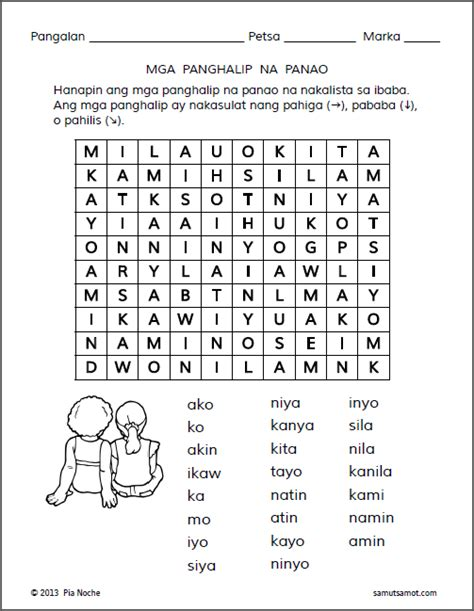 panghalip na panao worksheets part 4 samut samot