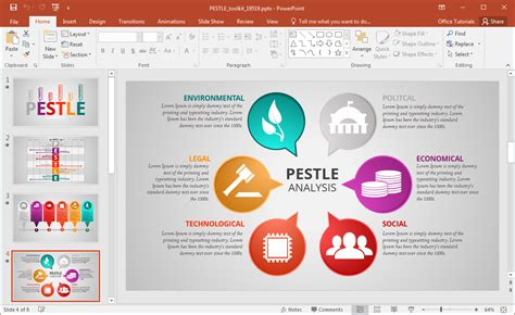 pestle analysis template animated pestle analysis presentation template for powerpoint