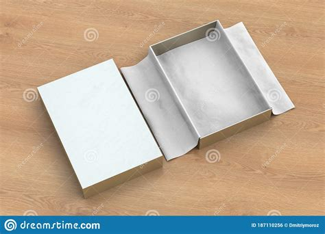 Sample design is not included in the download file. Gift Box Mockup With Unfolded Wrapping Paper Stock ...