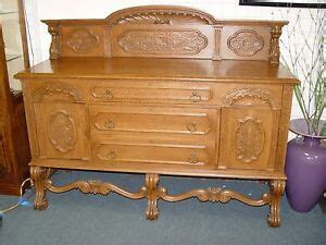 Tiger Oak Sideboard by Antique Tiger Oak Carved Sideboard Buffet Ebay