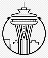 Needle Space Icon Clipart Seattle Coloring Pinclipart sketch template
