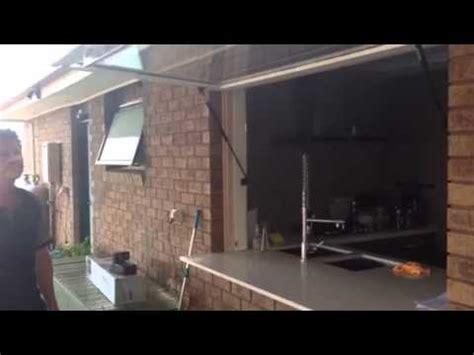 kitchen window transformed  gas struts youtube