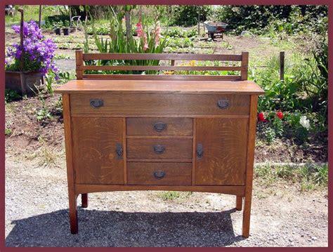 Gustav Stickley Sideboard by Voorhees Craftsman Mission Oak Furniture Original Gustav