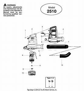 Poulan 2510 Electric Blower Parts Diagram For Blower Assembly