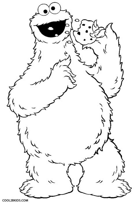 printable cookie monster coloring pages  kids
