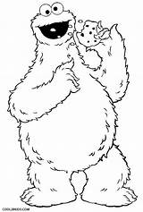 Cookie Monster Coloring Pages Cookies Eating Printable Cool2bkids sketch template