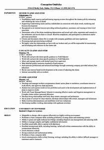 claims adjuster resume samples velvet jobs With entry level insurance adjuster resume