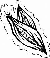 Corn Coloring Candy Ear sketch template
