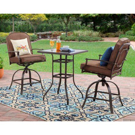 Small Outside Table And Chairs by Mainstays Wentworth 3 High Outdoor Bistro Set Seats