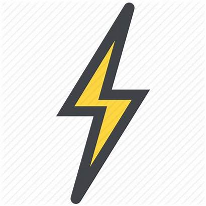 Lightning Icon Bolt Transparent Icons Clipart Background