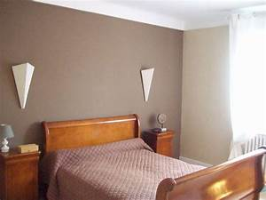 stunning chambre couleur taupe et prune ideas design With couleur peinture chambre adulte photo