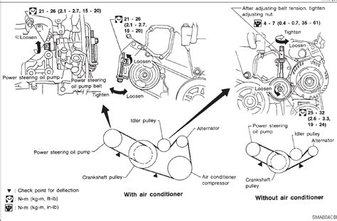 2005 Infiniti G35 Engine Diagram by 1998 I 30 Infinity Ps Is On Angle Causing Belt