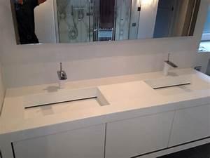 Vasque En Corian : mobilier table salle de bain corian ~ Premium-room.com Idées de Décoration