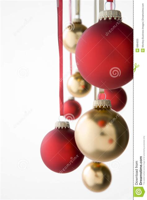 group of hanging christmas decorations stock image image
