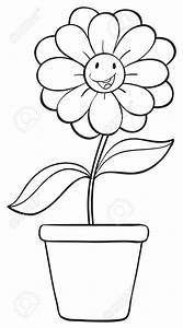 Flower Pot Sketch Outline - Drawings Nocturnal