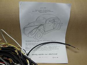 1965 Vw Volkswagen Bug Sedan Complete Wiring Works Harness