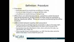Policies And Procedures  What Are They And How Are They Related To Each Other