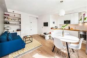decoration salon salle a manger comment optimiser l39espace With tapis ethnique avec canapé petits espaces