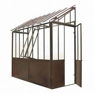 Serre Maison Du Monde : metal half greenhouse in rust finish h 245cm tuileries ~ Premium-room.com Idées de Décoration