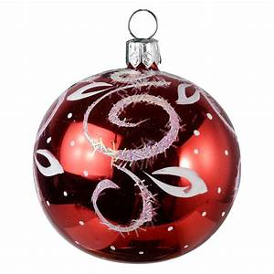 christmas, ornaments, world, , , u0026quot, intrigue, u0026quot, , glass, christmas, ball, ornament, , red, , glossy
