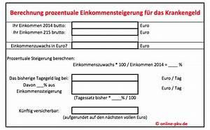 Pkv Berechnen : anpassung des krankentagegeldes bei der halleschen ohne ~ Themetempest.com Abrechnung