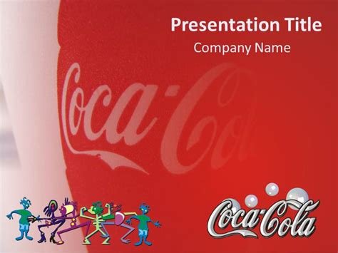 magnificient coca cola powerpoint template background