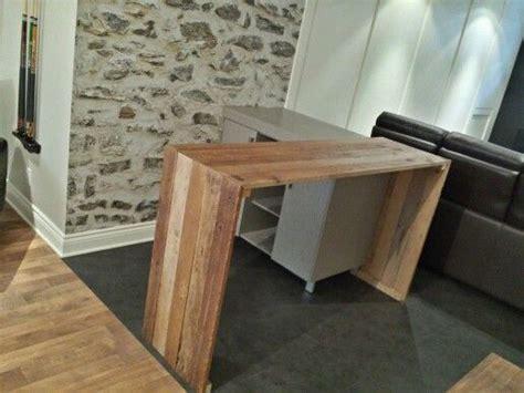fabriquer un bar de cuisine fabriquer meuble haut cuisine 2 comptoir bar en bois de
